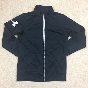 Under armor black zip up jacket xs